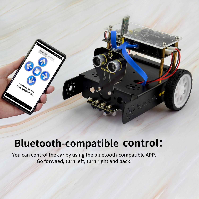 Keyestudio KEYBOT برمجة الجذعية التعليم سيارة روبوت عدة TB6612 مدفوعة RJ11 التحكم عن الروبوت اردوينو البرمجة الرسومية