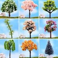 Mini bonsai miniature en resine  9 styles  1 piece bricolage decoration de jardin feerique  pour la maison  accessoires de jardin