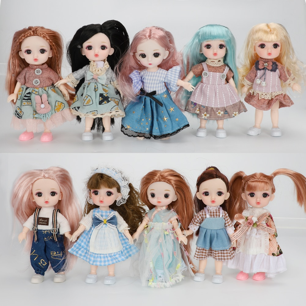 BJD blyth Fashion Doll Cotton Clothes Dress Up Suit For Ob11 1/12 Doll Outfit Daily Casual Accessori