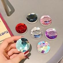 Soporte plegable de plástico elástico para teléfono móvil, Gema 3D colorida, agarre de anillo para dedo, para IPhone XS, Samsung
