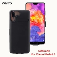 zkfys slim powerbank cases for xiaomi redmi 6 battaery charger cases 6000mah external charging portable power bank battery cover