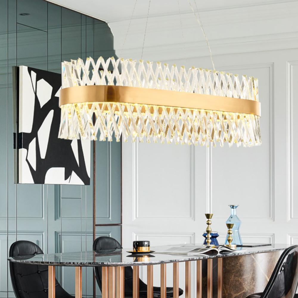 Colgante nobiliario de lujo postmoderno, luz creativa de cristal LED, luz colgante para sala de estar, dormitorio, comedor, luces interiores e27