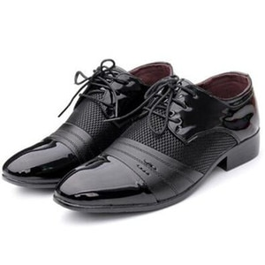 2018 New Four Seasons Men'S Dress shoes Casual Pointed Shoes Youth Korean Extra Large Men'S Shoes Fashion Dress Shoes Size 38-45