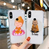 be happy little buddha cartoon phone case transparent for xiaomi cc max mix note 3 2 6 8 5 10 11 9 10 play x s se lite pro
