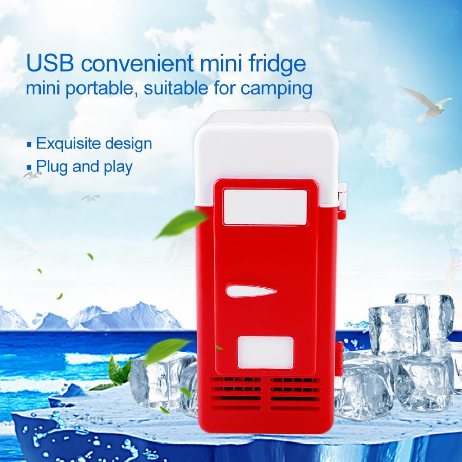 Портативный автомобильный мини-холодильник USB двойного назначения, охладитель, обогреватель, холодильник для автомобильных напитков, бано...