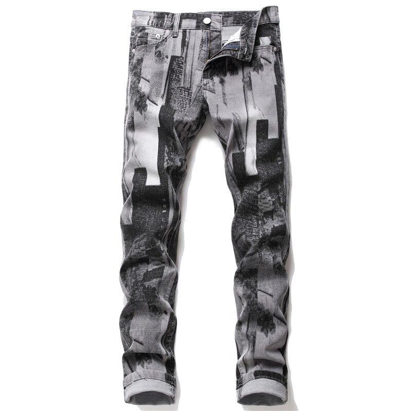 بنطلون جينز رجالي عالي الجودة ، مصمم ، ملابس الشارع ، الهيب هوب ، نمط الشرير ، مقاس 28-38 ، ربيع ، 2021