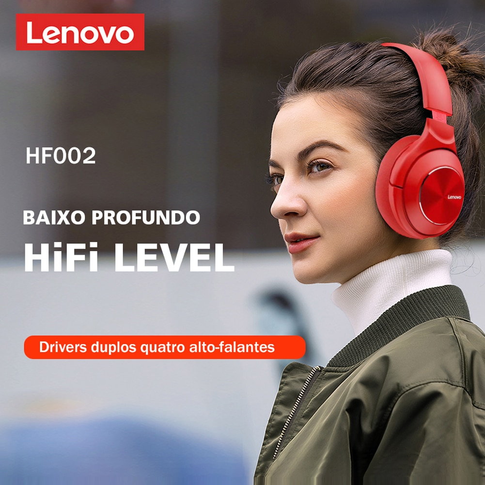 Lenovo HD700 ANC Headphones 5.0 Over Headset Subwoofer Sports Running Headset Unisex Noise Reduction Video Call enlarge