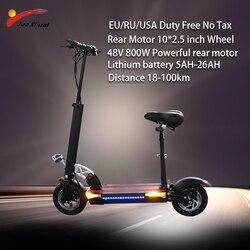 48V 800W Scooter Elétrico bateria De Lítio de longa distância 100km poderoso elétrico skate patinete adulto E Scooter electrico