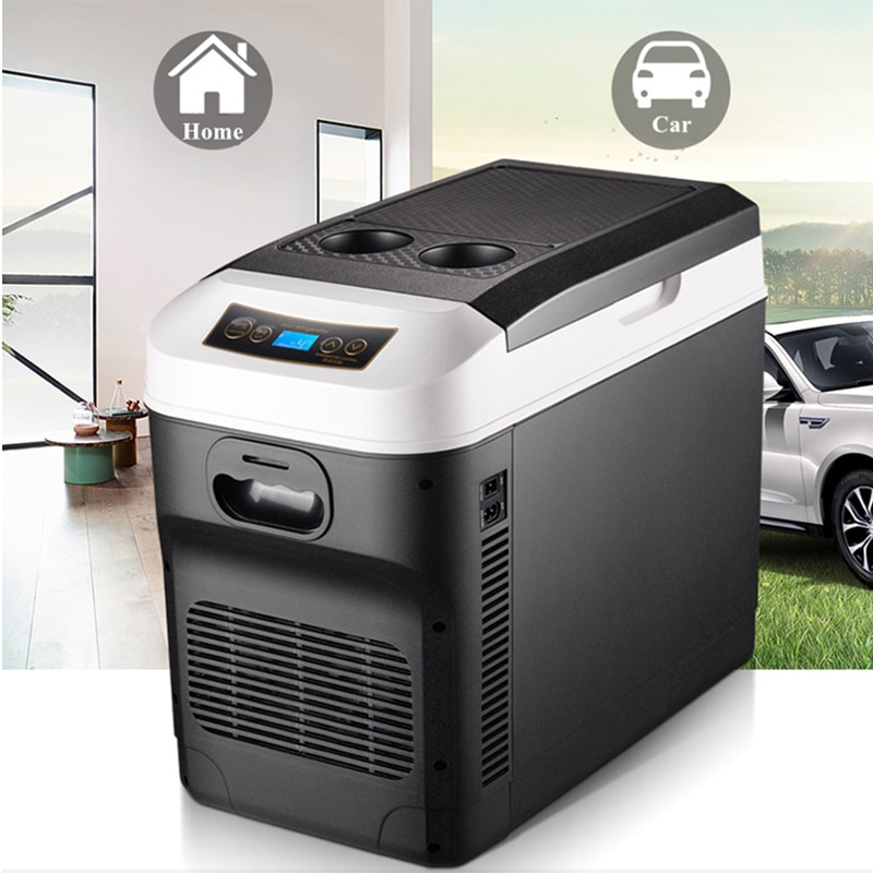20L Car Home Mini Refrigerator Fridges DC12/24V Cooler Heater Keep Fresh for Car Home Pinic Camping 0~65 Degrees Not Freezer