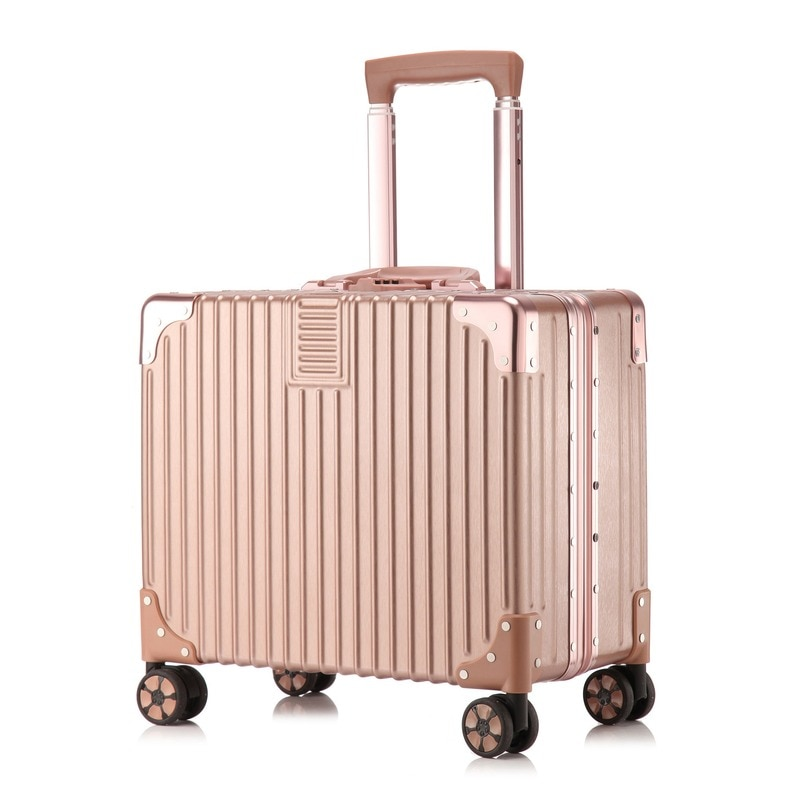 Luggage Business Computer Suitcase Stewardess Universal Wheel Can Board the Plane Small Trolley Case Right Angle Business Box