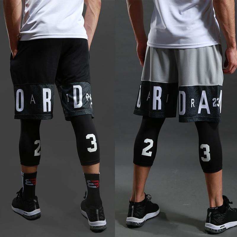 Мужские спортивные шорты для занятия баскетболом, тренажерного зала, быстросохнущие Компрессионные шорты для тренировок, для мужчин, для ф...