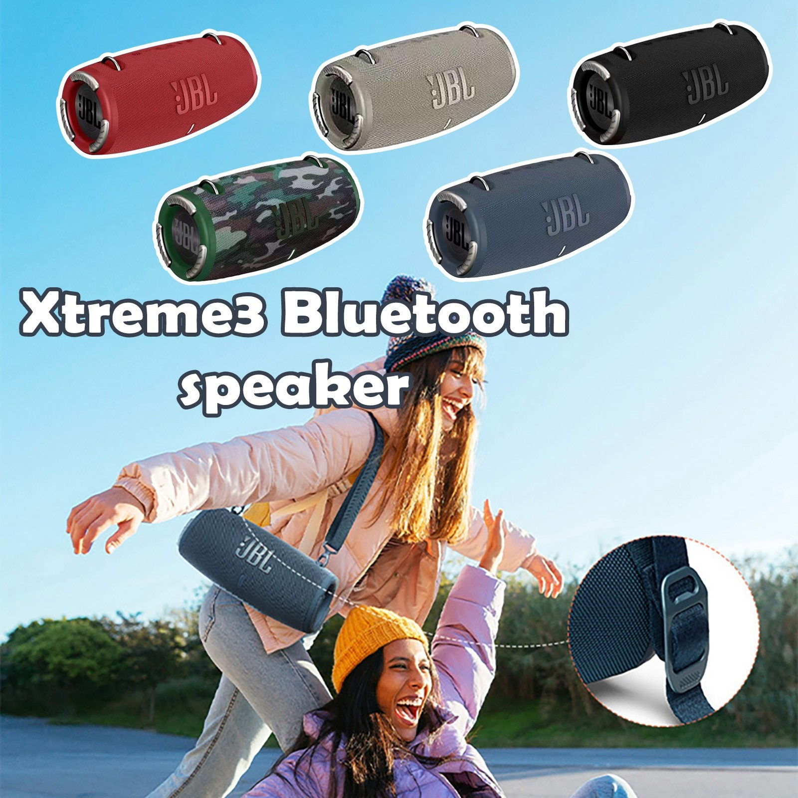 Xtreme 3 Bluetooth Speaker Portable Outdoor Wireless Speaker Waterproof Xtreme Powerful Deep Subwoofer Music Party Charge5 Flip enlarge