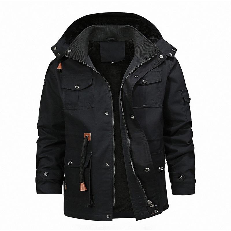 Мужская куртка, модное пальто, новое зимнее повседневное плотное пальто, Черная мужская куртка для джентльменов, длинная куртка, Прямая пос...