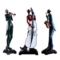 nordic resin musician figurine statues for decorations craft home decor modern music band sculpture ornaments accessories gift