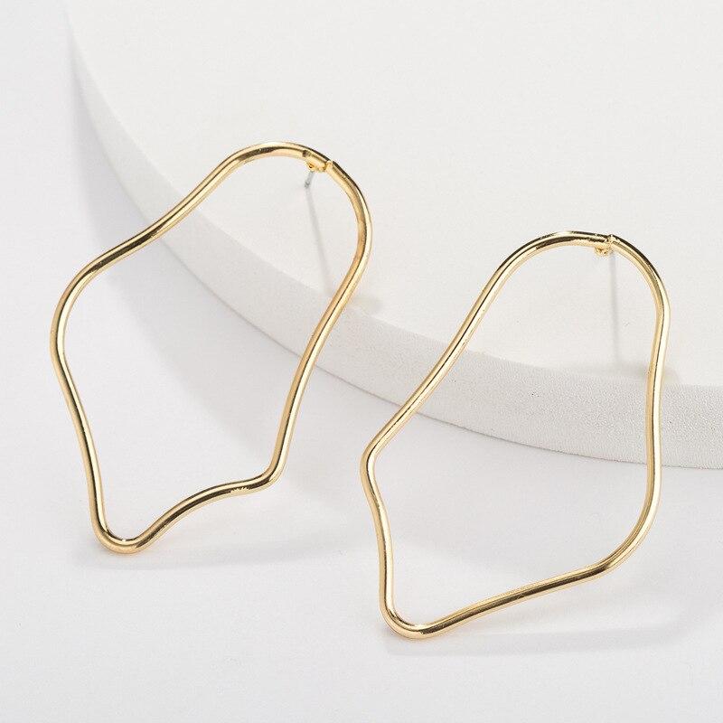 Новые простые большие геометрические необычные серьги для женщин, серьги-капли из сплава золота для девочек, свадебные серьги-капли, Jwellery Brincos