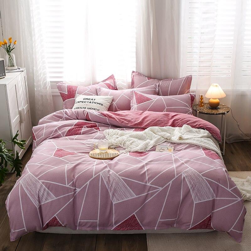 Lrregular الشبكة نمط غطاء لحاف 210x240 المخدة 3 قطعة ، 200x220 لحاف غطاء السرير غطاء ، الشمال نمط الفراش مجموعة بطانية غطاء