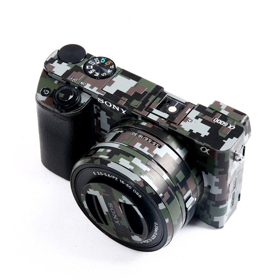 Protetora para Sony Kit de Película A6600 com 16-50 Anti-risco Adesivo Camuflagem A6000 A6100 A6300 A6400 A6500