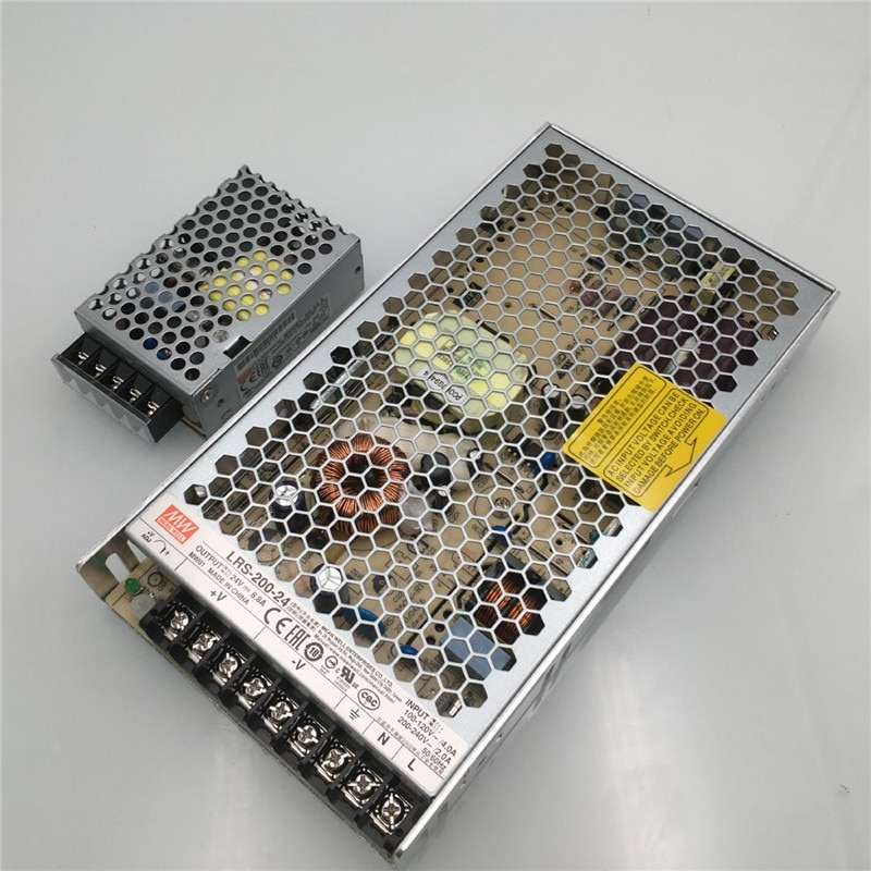 Funssor Voron 2.4 3D طابعة الأصلي Meanwell امدادات الطاقة عدة يعني جيدا RS-25-5 PSU LRS-200-24 PSU