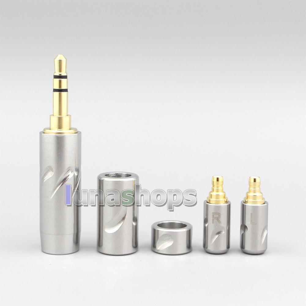 Qualidade de Aço Slider + Acoustune 4.4mm + Divisor Alta Inoxidável hs 1695ti 1655cu Pinos Kits Plug Personalizado Ln007062 3.5mm 2.5mm