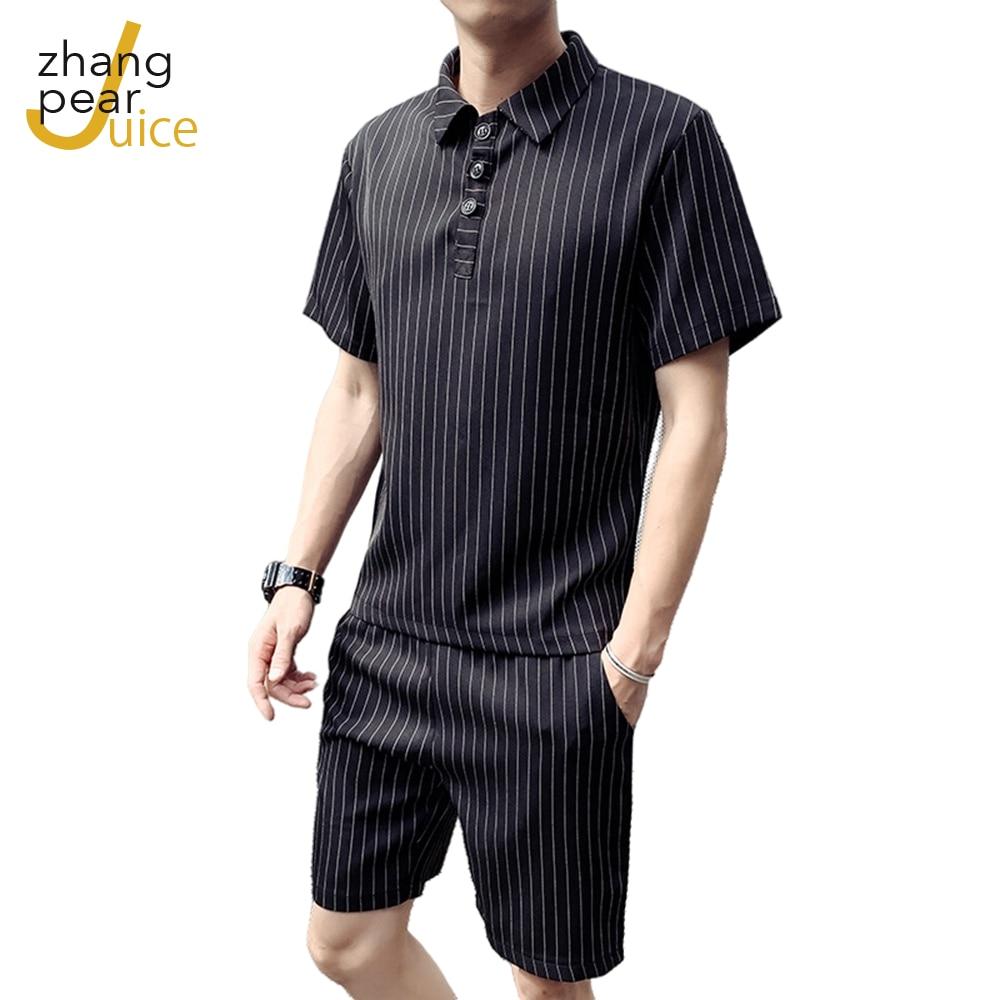 Комплект мужской летний из рубашки и шортов с принтом