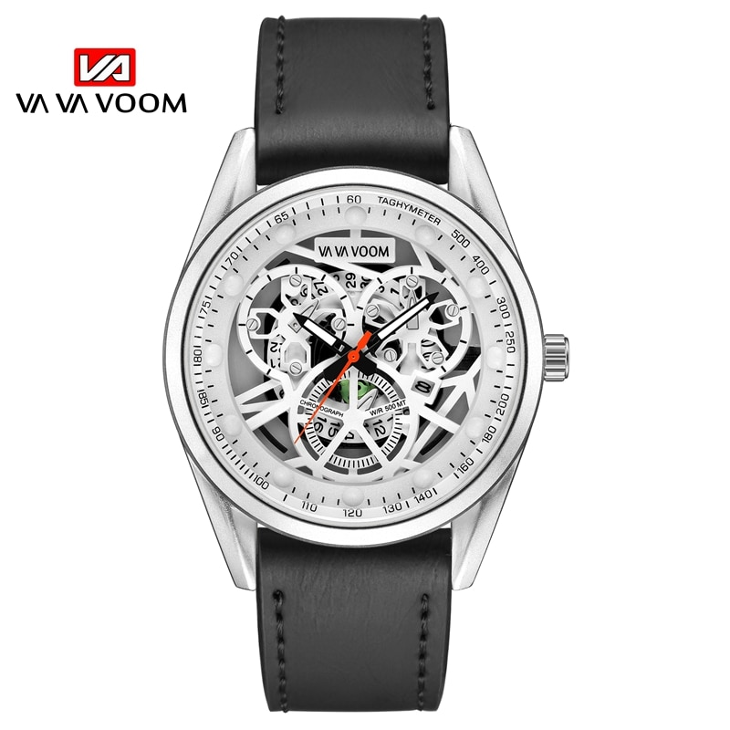 2021New men's Watch Simple Fashion Sports Style Top Brand Leather Waterproof Japanese Movement Quart