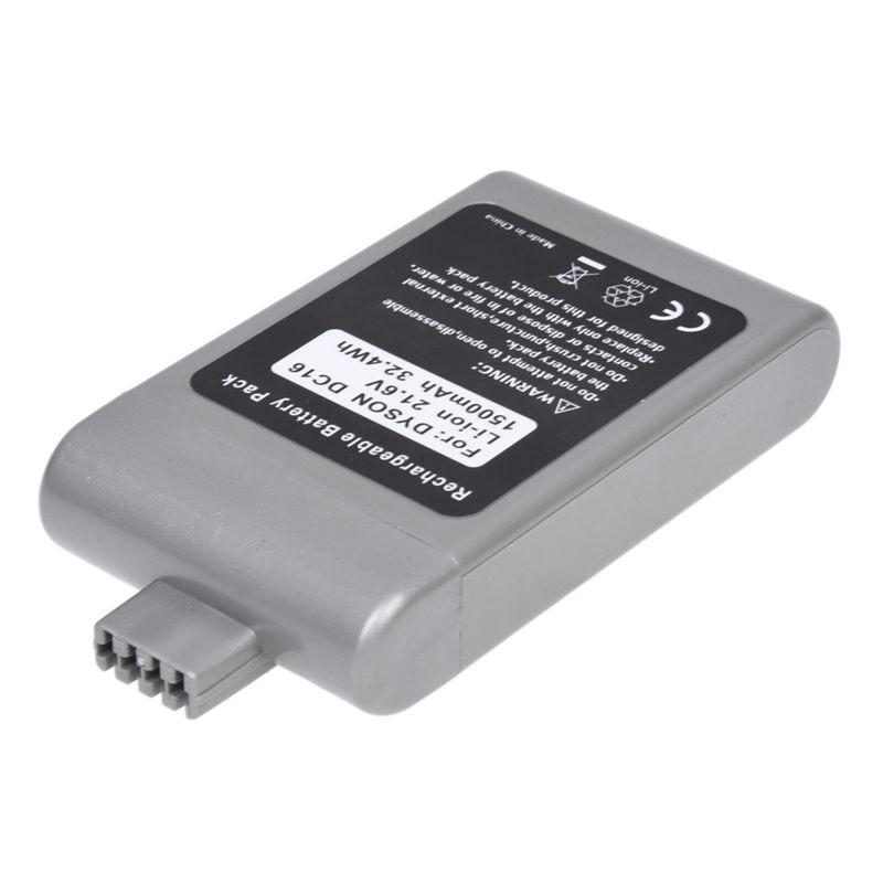 Batería de repuesto de vacío sin cable de 21,6 V y 1500mAh para Dyson DC16, 12097, 912433-01, 912433-03, 912433-04, BP01 Gray