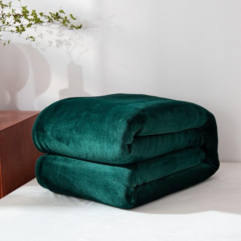 Manta de franela de color liso, manta de lana verde oscuro, manta de lino negra, Sábana de lino gris, colchas azules, textil para el hogar 150*200cm