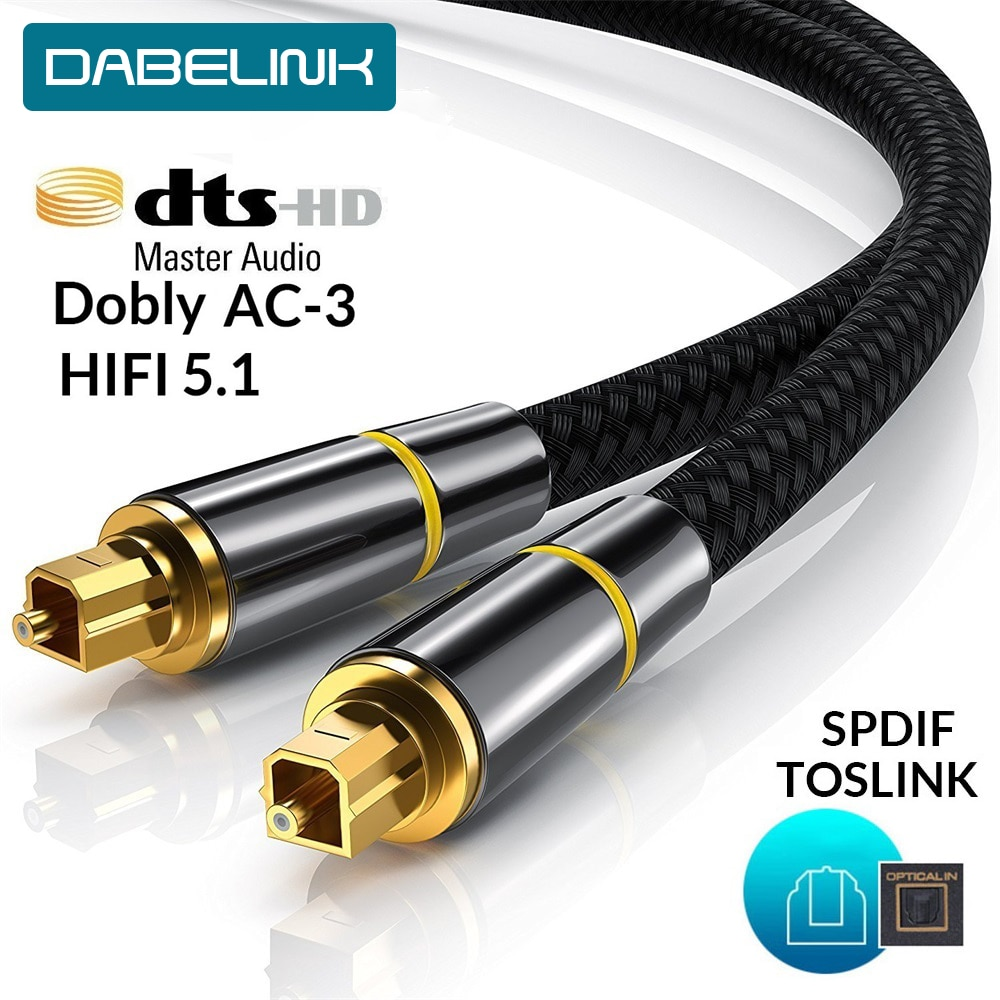 HIFI 5.1 Digital SPDIF Fiber Toslink Optical Audio Cable 1m 2m 8m 10m For TV Box PS4 Speaker Wire So