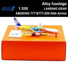 32CM 1200 BOEING 777 B777-200 ANA avión modelo de aleación avión de pasajeros adultos niños juguete de fundición colección de adultos