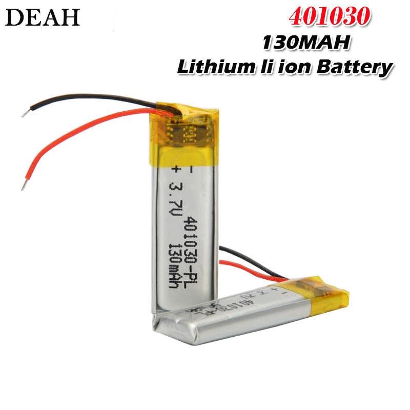 3,7 В 130 мАч 30*10*4 мм 401030 литий-ионный аккумулятор для MP3 MP4 MP5 DVD Игрушка Мобильный bluetooth наушники lipo аккумуляторная батарея