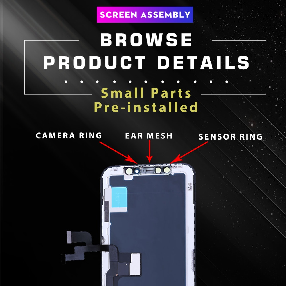 LCD for IPhone X XS XR 11 PRO MAX Display AMOLED 3D Touch Screen with Digitizer Replacement Assembly Parts With True Tone enlarge