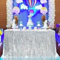 275x75cm tassel table skirt wedding brithday party fringe table skirt tableware banquet table decor favors table skirting