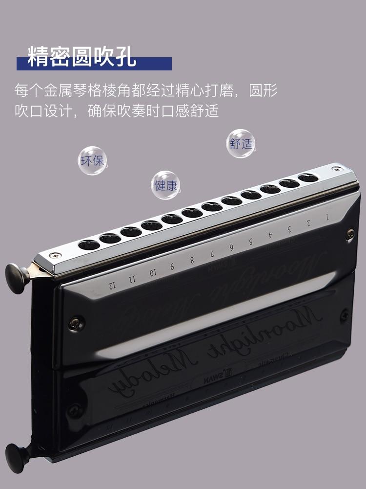12-hole Polyphonic C Harmonica Blues Chromatic Scale Small Harmonica Musical Instrument Instrumentos Musicais Entertainment enlarge