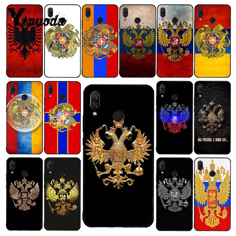 Yinuoda Armenia Albania Rusia bandera funda de teléfono para Xiaomi Redmi4X 6A 7A 5 5Plus note4 9 Note5 7 Note6Pro