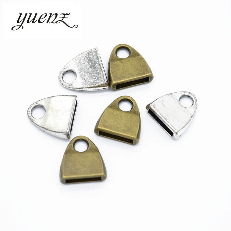 YuenZ 10 Uds collar extremo tapas de borla tapa para cuentas tapa final para la fabricación de joyería hallazgos DIY accesorios hechos a mano suministros B162