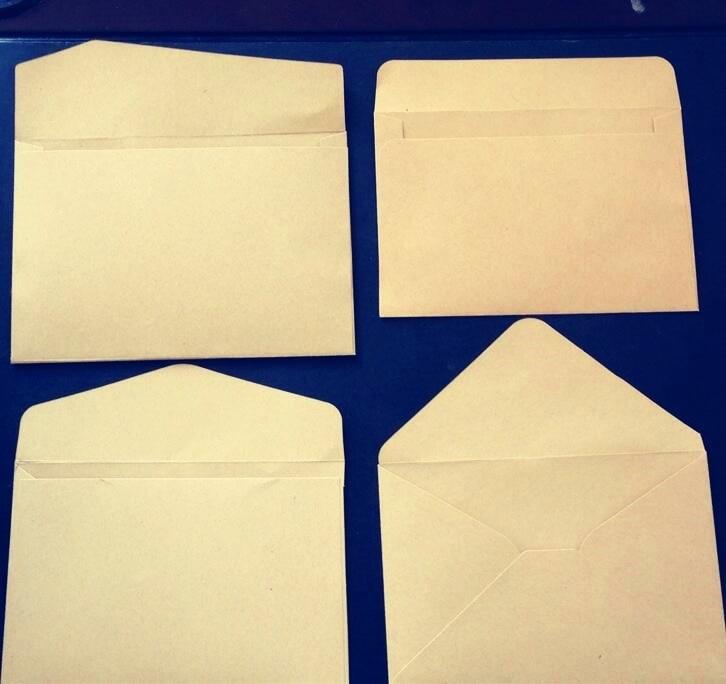 10 unids/lote de sobres en blanco para regalo de estudiante, bolsa de papel Kraft Simple para fiesta y boda, bolsa de almacenamiento de tarjetas de Messaage