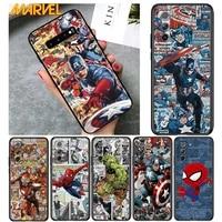 spiderman captain america for samsung galaxy s21 ultra plus note 20 10 9 8 s10 s9 s8 s7 s6 edge plus soft black phone case