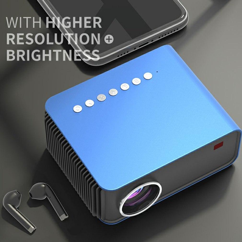 T4 جهاز عرض محمول صغير مع شاشة جهاز عرض للهاتف المحمول شاشة كبيرة وسماعات شاشة ستيريو كبيرة