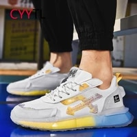 cyytl men colored soles sneakers youth boys fashion mesh walking casual sports shoes running workout training tennis trainers