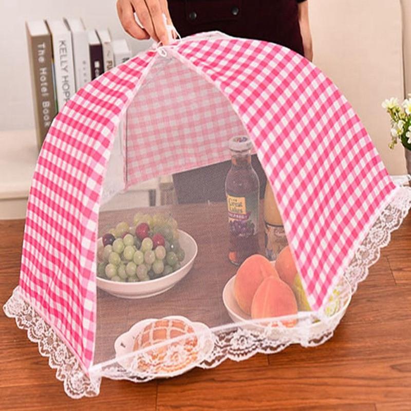 Cubierta plegable de mesa de comida, paraguas antimoscas, mosquitos, utensilios de cocina, accesorios de cocina, cubiertas de malla para alimentos