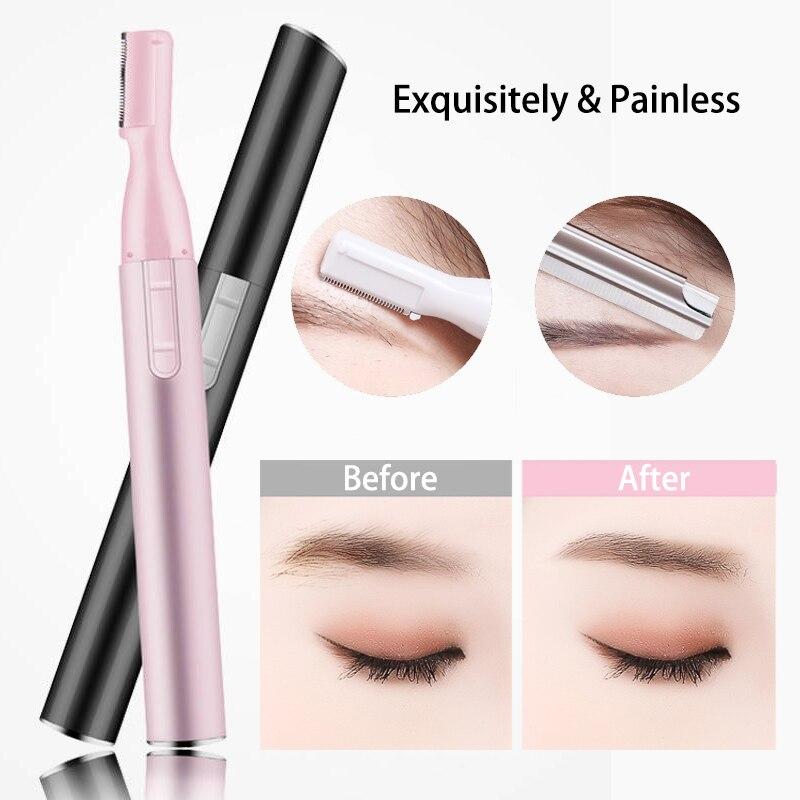 Dermaplaning 2020 maquinilla de afeitar eléctrica para dar forma a cejas, cuchillo para mujeres, herramientas de belleza, exquisito y rápido y fácil de afeitar