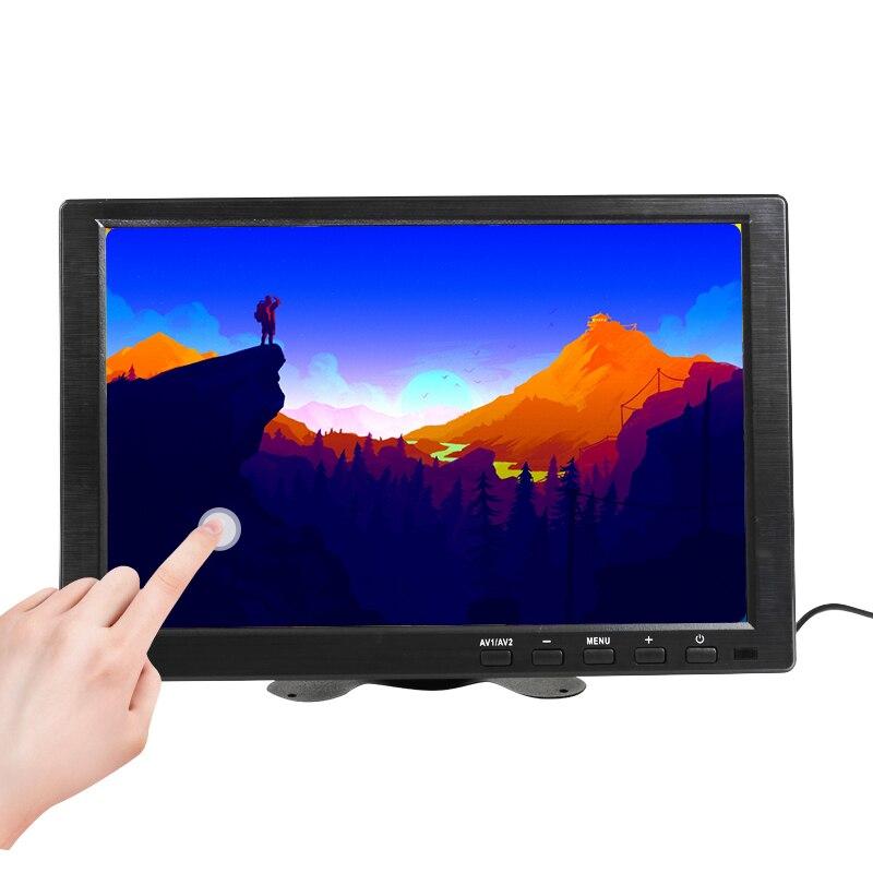 Pantalla táctil capacitiva IPS HDMI de 10,1 pulgadas Monitor LED 1280x800 para PS3 4 Windows 7 8 10 VGA/AV USB pantalla LED PC para coche