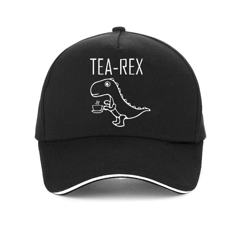 Кепка Tea rex с забавным графическим динозавром, милая бейсболка с мультяшным принтом для мужчин и женщин, летняя козырёк, в стиле хип-хоп, Снэп...