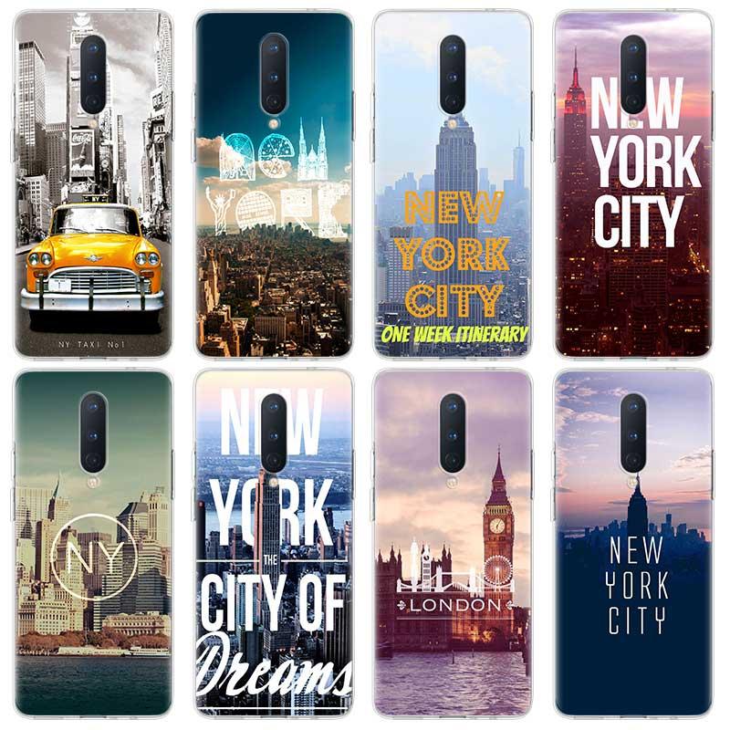 Классный силиконовый чехол для телефона New york Boston Miami для OnePlus 8 8 Pro 7 7Pro 7T 7T Pro 6 6T 5G прозрачный мягкий чехол из ТПУ