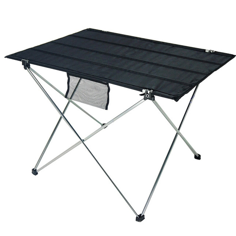 Портативный складной стол для кемпинга на открытом воздухе мебель для пикника компьютерные столы для кровати из алюминиевого сплава ссвет...