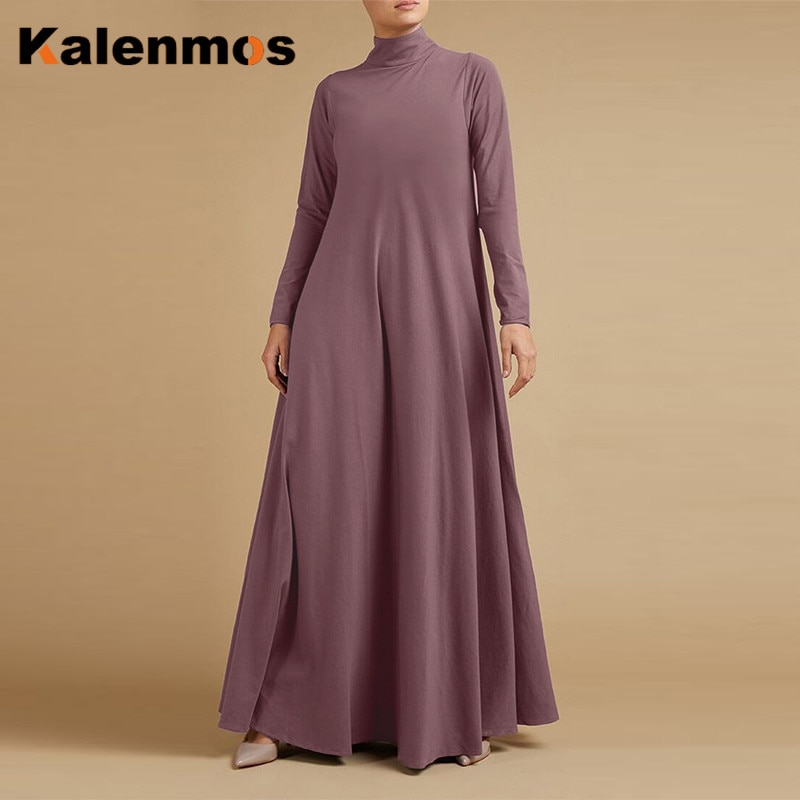 Abaya Dress Turkish India Muslim Women Ribbon Lace-up Ethnic Maxi Long Vestidos Gown Dubai Islamic Party Moroccan Kaftan Femme