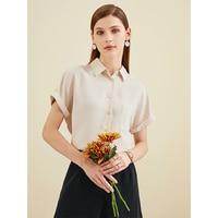 White Shirt Women\'s Loose Chiffon Short Sleeve Square Collar Top Fashion Temperament Business Shirt New Summer