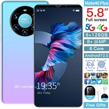 Global Version Mate 40 Plus 4G Smartphone 6.1 inch 8+16MP Mobile Phone Dual Sim Card 6GB RAM + 128GB