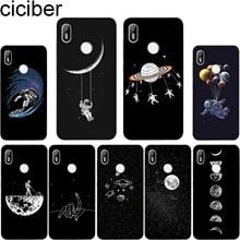 ciciber For BQ Aquaris C U2 U X5 V VS X2 X Lite Pro Plus E5 s E4.5 M5 M5.5 M4.5 Back Cover Clear TPU Phone Case Starry sky Moon