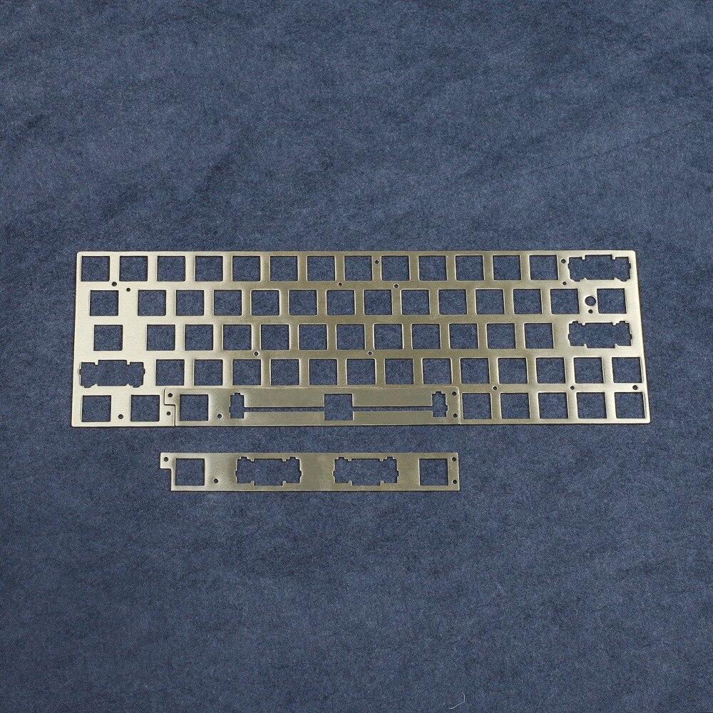 60% ANSI GK64 سبليت الفضاء الصلب شريحة من النحاس وحدة الفضاء القابلة للإزالة GK64X GK64XS PCB ل GK64 البلاستيك لوحة المفاتيح الميكانيكية